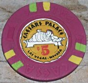 5 Vintage 4th Edt Gaming Chip From Caesars Palace Casino Las Vegas R6