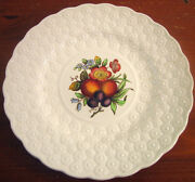 Copeland Spode 9andfrac14 Luncheon Plate Ring Fruit Bouquet Embossed Daisies England 10