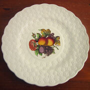 Copeland Spode 9andfrac14 Luncheon Plate Ring Fruit Bouquet England 12