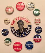 Lot Of Rare Vintage Political Buttons President Dick Nixon,carter,mondale,ford