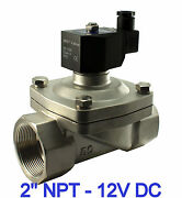 2 Inch Stainless Electric Solenoid Air Water Valve Normally Closed 12v Dc Viton