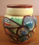 Germany Planter Pot Mid Century Modernism Mod Painted Numbered 7703 66 Brown