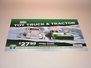 Hess 2013 Toy Truck And Tractor Horizontal Vinyl Poster 19 1/2 Wide X 13 1/2 T