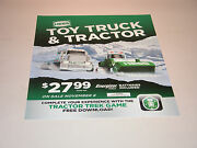 Hess 2013 Toy Truck And Tractor Vertical Vinyl Poster 18 Tall X 14 1/2 Wide