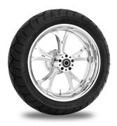 Performance Machine 17 Rear Chrome Luxe Wheel Tire Package Harley 09-15 Abs