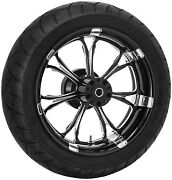 Performance Machine 17 Rear Black Paramount Wheel Tire Package Harley 09-15 Abs