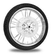 Xtreme Machine Execute Chrome 21 Front Wheel Tire Rotor Package Harley 14-15