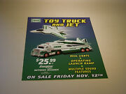 Hess 2010 Toy Truck And Jet Regular Vertical Poster 18 Tall X 14 1/2wide