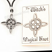 Witchand039s Protection Knot Pendant Wicca Wiccan Necklace Magical Knot Charm