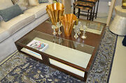 20 Off - Cocktail Table With Glass Inserts