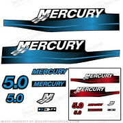 Mercury 5hp Outboard Decal Kit Blue Or Red 5.0 1999-2006 All Models Available