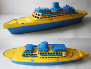 Rare Vintage 70and039s Plastic Cruise Ship Boat 1 Made In Greece Greek 38cm New
