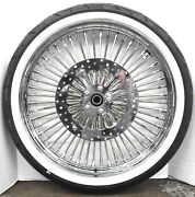 Dna 52 Mammoth Spoke Tire W/ Rotors Front And Rear Package For Harley Softail