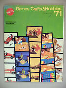 Mattel Catalog - 1971 Games, Crafts And Hobbies Uncorrected First Proof Copy