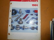 1991 Andrews Motorcycle Performance Parts Catalog