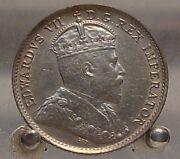 1904 Canada Silver 5 Cents, Half Dime, Sterling Silver Coin, Better Date