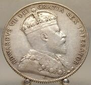 1904 H Canada Newfoundland Silver 50 Cents Old Sterling Silver World Coin