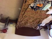 Ikea Bed Brown And Queen Mattress Sultan High End For Sale