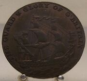 1794 Kent Deal Guard And Glory Of Gand039 Britain Half Penny Token