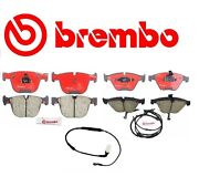 Bmw E63 E60 535i 650i Front And Rear Disk Brake Pads Kit With Sensors Brembo