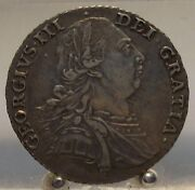 1787 Great Britain Silver 1 Shilling, Old World Silver Coin, King George Iii