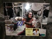 Jason Momoa Autographed 8andtimes10 Conan Cimmerian Warrior Photo With Proof