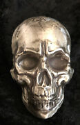 10 Troy Oz Mk Barz Vexed Skull Hand Poured .999 Fs Limited Edition