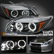 For 2005-2010 Scion Tc Led Strip Halo Projector Headlights Black Lamp Left+right