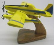 Air Tractor At-802 Fire Boss Airplane Desktop Kiln Dry Wood Model Large New