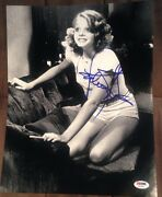 Jodie Foster Signed Autograph Famous Taxi Driver Pose 11x14 Photo Psa/dna Y63391