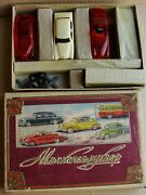 Russian Soviet Ussr Vintage 1950s 3 Models Of Cars Toy Construction Rare + Box
