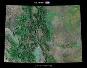 Map County Satellite Usa State Flag Colorado Large Replica Poster Print Pam1363