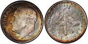 1952-s Pcgs Ms68 High Grade Toned Roosevelt Dime 10c Excellent Example