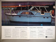 Hatteras Yacht Centerfold Print Ad - 1969 38 Double Cabin