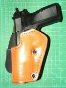 Front Line Lkc06pl-br Lh Leather Kydex Paddle Holster Lined Fn Browning Hipower