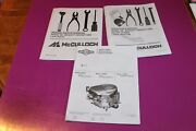 Mcculloch Model Mc2042yt 20 Hp 42 Inch Lawn Tractor Operators Manual + 2 Others