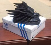 Adidas Originals Obyo Jeremy Scott Wings 3.0 Black Dark Knight Batman Sneakers