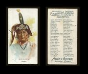 1888 N2 American Indian Chiefs British - Ioway Corr Vg Aa-6809