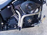 Twisted Venom Chrome Exhaust Pipes Harley Softail Sportster Fxr Super Glide Low