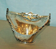 Mauser Sterling Basket With Handle Grape Design Signed 15.50 Ounces