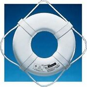 Jim-buoy Jb-19 Life Ring Buoy 19 With Beckets Boat Marine Safety Uscg Approved