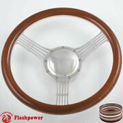 14and039and039 Billet Steering Wheels Wood Banjo Ford Gm Corvair Impala Chevy Ii