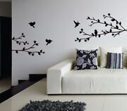 Birds Tree 3 Branches Wall Sticker Home Quotes Inspirational Love Ms108vc