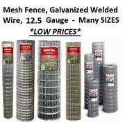 Many Sizes And Options - Galvanized Welded Wire Mesh Cage Fence 12.5 Gauge