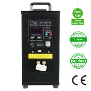 U.s. Solid 15kw 30-80khz High Frequency Induction Heater Furnace Lh-15a 110-140v