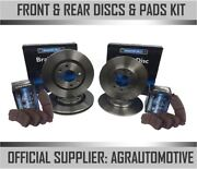 Oem Spec Front + Rear Discs And Pads For Honda Prelude 2.0 Bb 1992-97