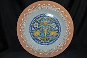 Val Demone Ceramics Hand Painted Decorative Wall Plate 22 New