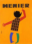 Original Vintage French Poster For Menier Chocolate Maquette By Dwriok