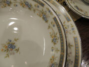 Barclay Four Crown Japanese China Service For Twelve 12 Pattern519 White/blue