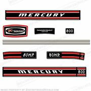 Mercury 1970 80hp Outboard Decal Kit - Reproduction Decals In Stock